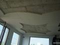 Окачен таван от гипсокартон с декоративни форми.
