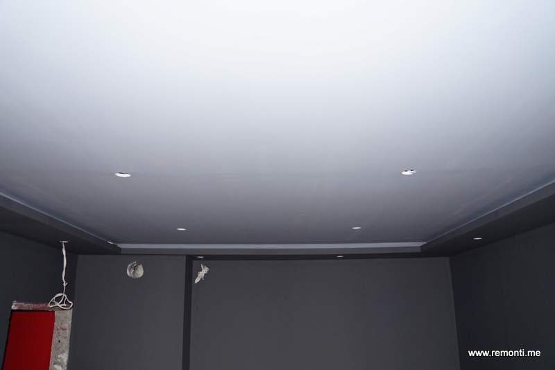 Боядисване на таван от гипсокартон.