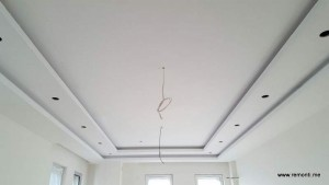 Окачен таван със скрито осветление Камбаните.