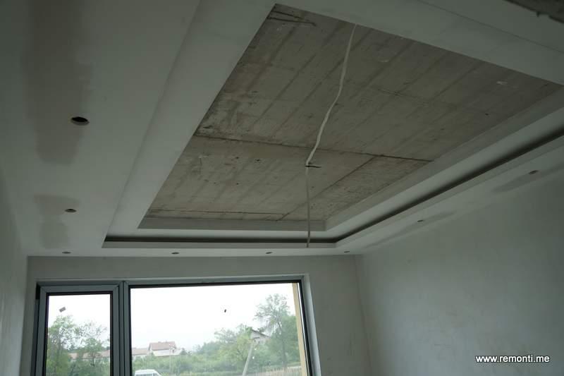 Декоративен таван от гипсокартон.