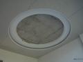 Монтаж на таван от гипсокартон с овал.